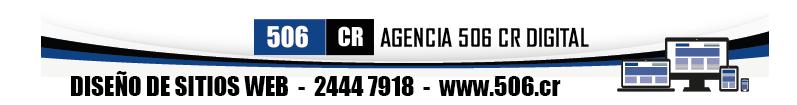 Agencia 506 CR Digital - Diseño de sitios web
